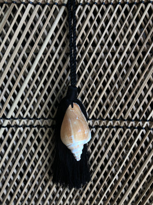 Natural Caracol Shell Tassel