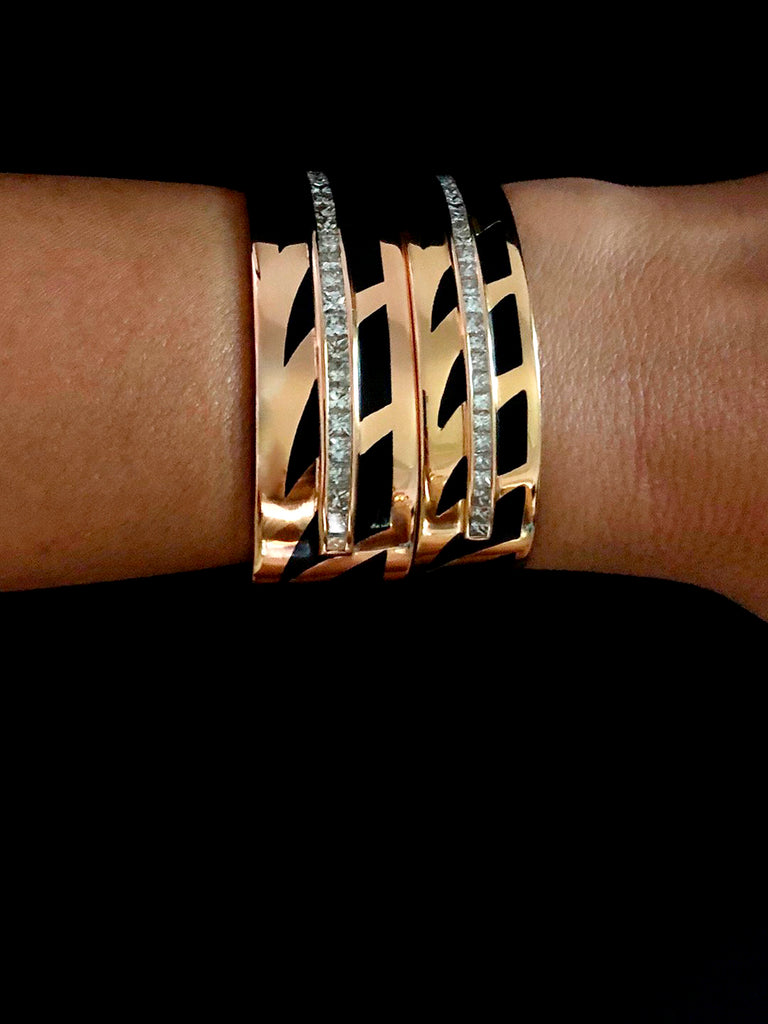 Medio Deco Shark Fin Diamond Cuff