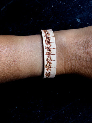 Leather Bracelet with Palm Trees