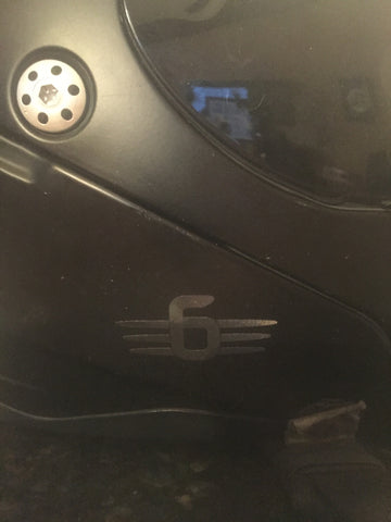 "=6=   2"" Decal  3m  Black Reflective"