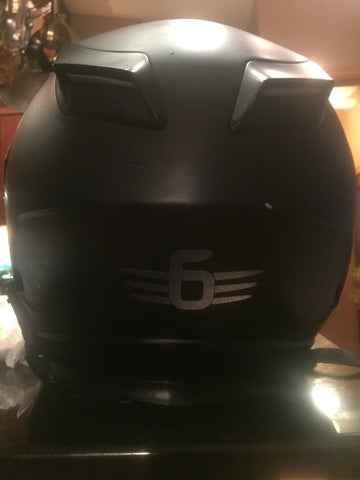 "=6=   3"" Decal  3m  Black Reflective"