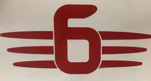 "=6=   3"" Decal"