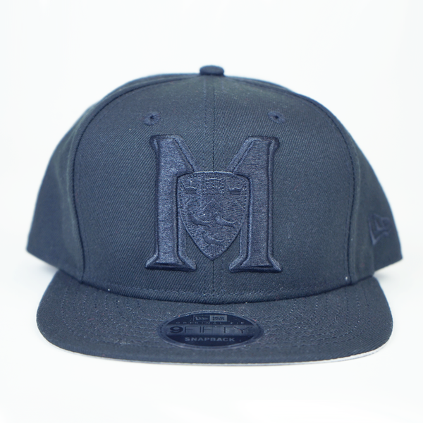 M logo-black on black-9FIFTY snapback