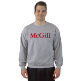 Crewneck with McGill Classic Felt Embroidery