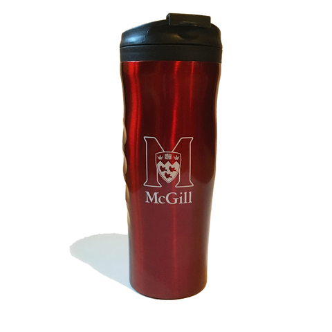 Travel Mug-McGill Athletics & Recreation logo