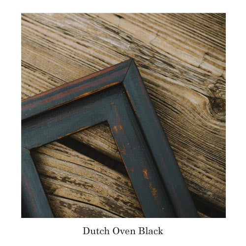this dressy rugged picture frame in dutch oven black adds the perfect wooden complement to - Barnwood Frames
