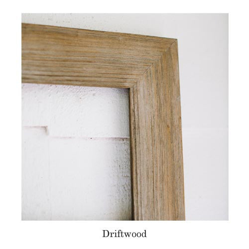 lightly colored and reminiscent of the salt and the sea chirpwoods driftwood frame is the - Driftwood Frame