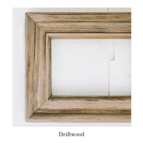 chirpwoods barnwood frame is made in the usa but its driftwood finish brings the character