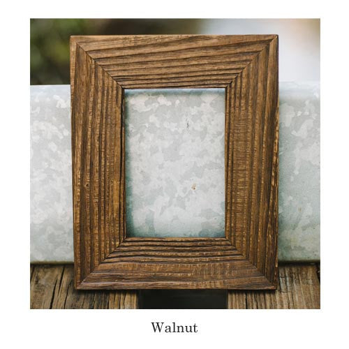 The Walter Rustic Plank Picture Frame In 8 Finishes