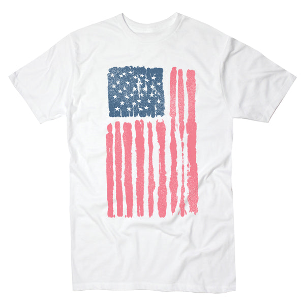 Painted American Flag - Men's Tee