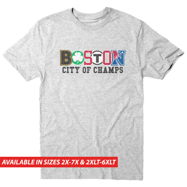 Boston City of Champs - Men's Big & Tall Short Sleeve Tee