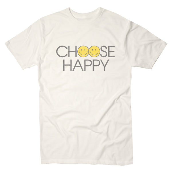 Happy Face Choose Happy - Men's Tee