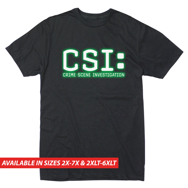 CSI Glowing Logo - Men's Big & Tall Short Sleeve Tee