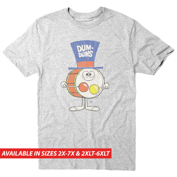 Dum Dums Retro Drummer - Men's Big & Tall Short Sleeve Tee