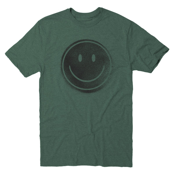 Happy Face Spray Stencil - Men's Tee
