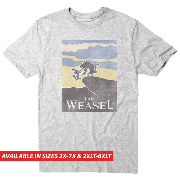 I Am Weasel Landscape - Men's Big & Tall Short Sleeve Tee