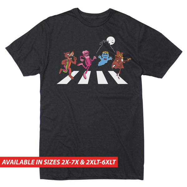 Monsters Crossing Road- Men's Big & Tall Short Sleeve Tee