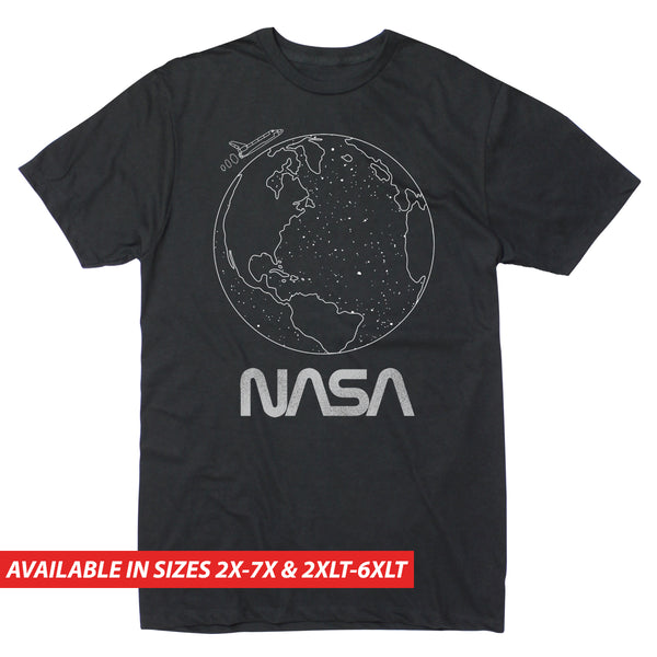 NASA - Earth Outline - Men's Big & Tall Short Sleeve Tee -