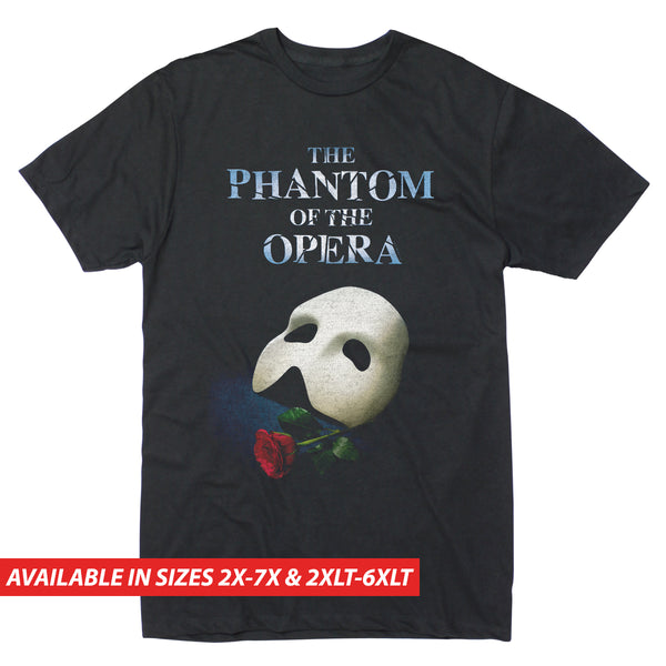 Phantom of the Opera Mask Rose Poster - Men's Big & Tall Short Sleeve Tee