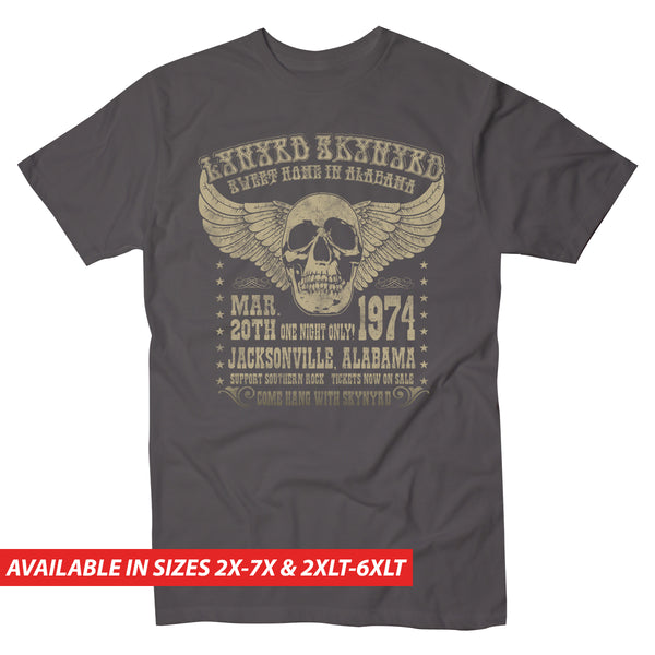 Lynyrd Skynyrd Alabama 74 - Men's Big & Tall Short Sleeve Tee