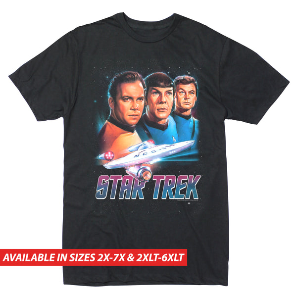 Star Trek VHS Cover - Men's Big & Tall Short Sleeve Tee