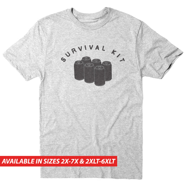 Survival Kit Beer - Men's Big & Tall Short Sleeve Tee