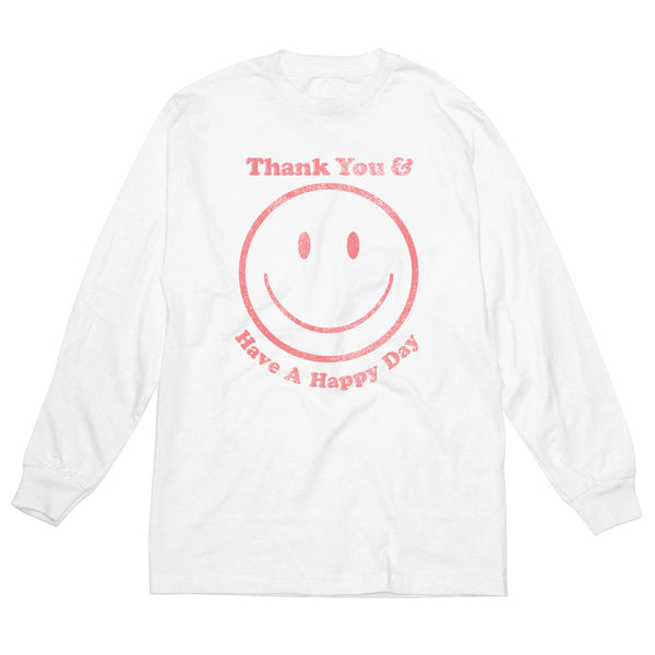 Thank You Happy Face - Men's Long Sleeve Tee