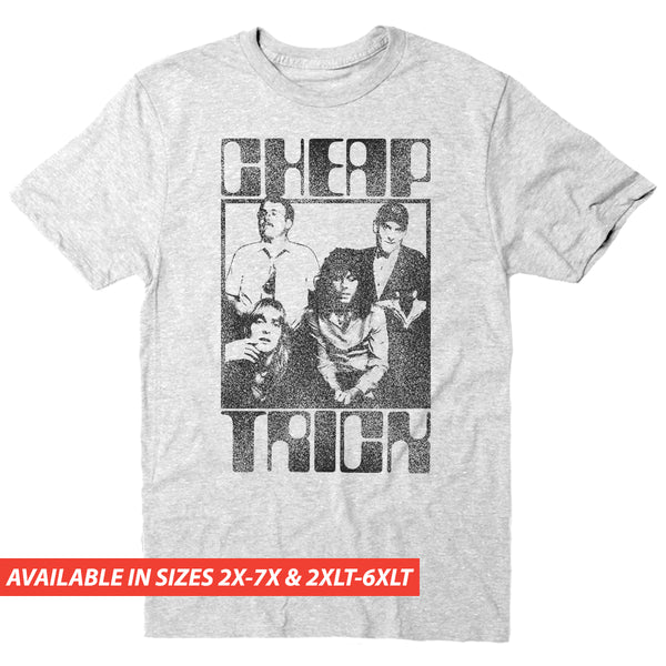 Cheap Trick Group Retro Logo - Men's Big & Tall Short Sleeve Tee