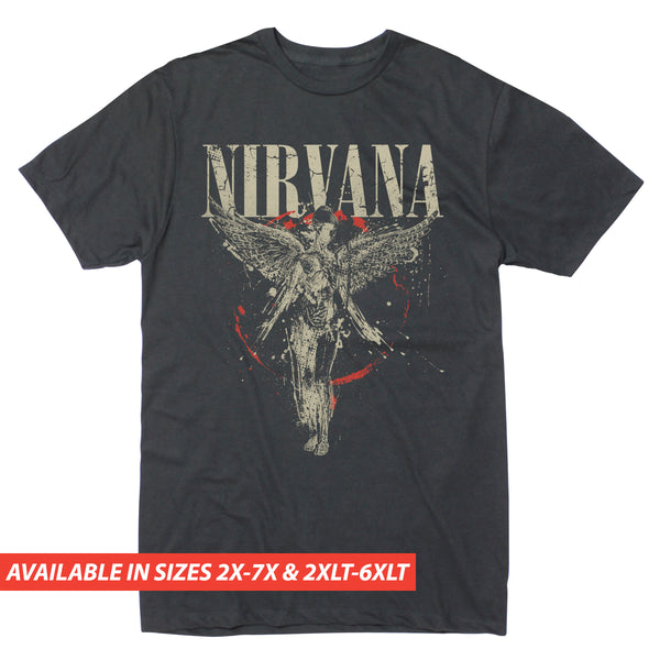 Nirvana IU Splatter - Men's Big & Tall Short Sleeve Tee