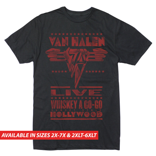 Van Halen Live at the Whiskey - Men's Big & Tall Short Sleeve Tee