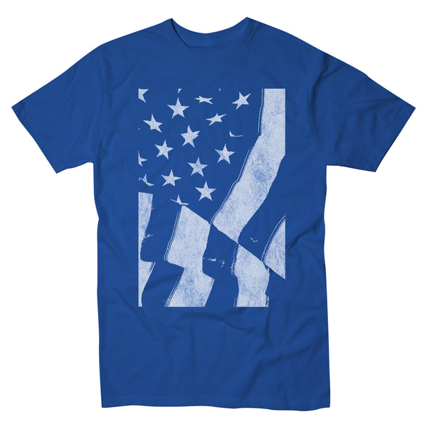 Waving Stars And Stripes - Men's Tee