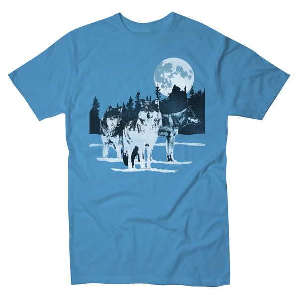 Wolf Pack Moon - Men's Pigment Dyed Tee