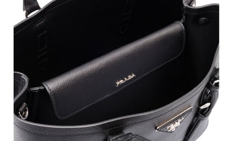 Prada 1BG820 Saffiano Cuir Leather Tote in Nero Black
