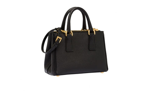 Prada 1BH907 Saffiano Leather Tote in Nero Black