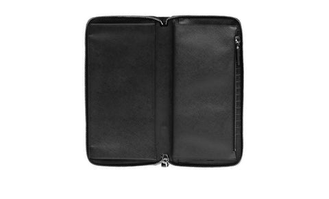 Prada 2M1220 Saffiano Leather Document Holder in Nero Black