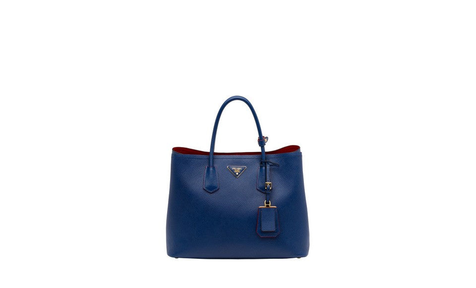 Prada B2756T Saffiano Cuir Leather Tote in Cornflower Blue