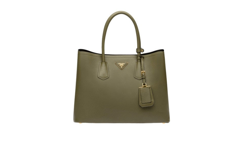 55cfd58165339 Prada B2756T Saffiano Cuir Leather Tote in Military Green