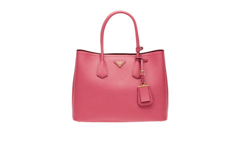 Prada B2756T Saffiano Cuir Leather Tote in Tamaris