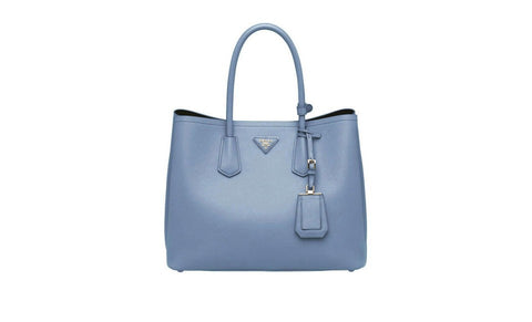 Prada B2756T Saffiano Cuir Leather Tote in Astrale Pale Blue