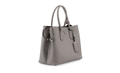 Prada B2756T Saffiano Cuir Leather Tote in Marble