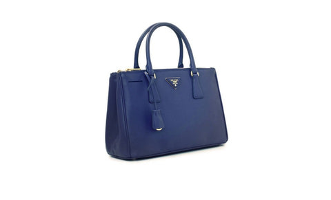 Prada BN1801 Saffiano Leather Tote in Cornflower Blue