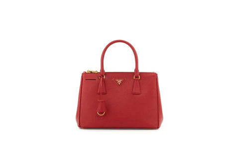 Prada BN1801 Saffiano Leather Tote in Fuoco Red