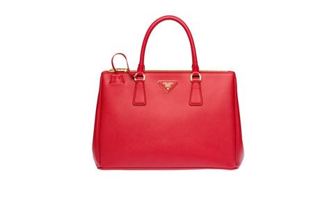 Prada BN2274 Saffiano Leather Tote in Red