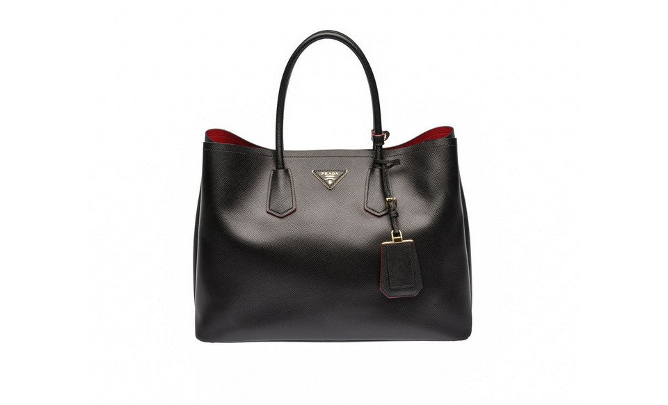 Prada BN2761 Saffiano Cuir Leather Tote in Black