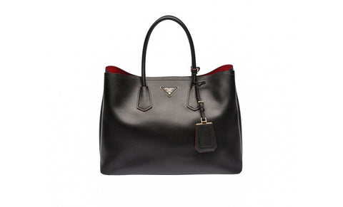 0a80a6bd70c9f Prada BN2761 Saffiano Cuir Leather Tote in Black