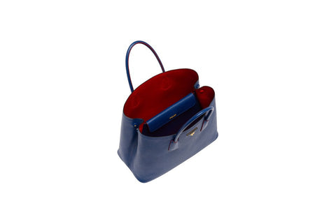 Prada BN2761 Saffiano Cuir Leather Tote in Cornflower Blue