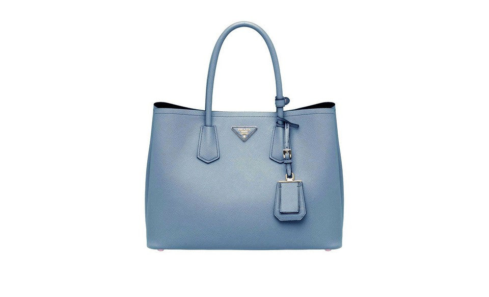 Prada BN2761 Saffiano Cuir Leather Tote in Astrale Blue