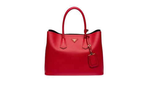 Prada BN2761 Saffiano Cuir Leather Tote in Fuoco Red