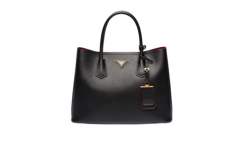 Prada BN2775 Saffiano Cuir Leather Tote in Nero Black