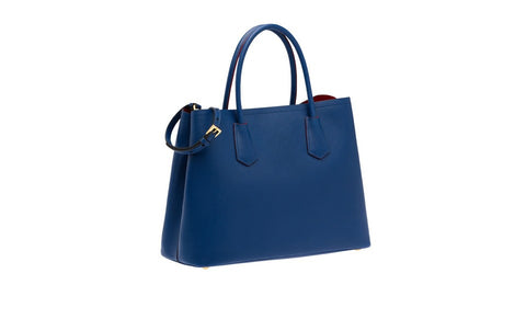 Prada BN2775 Saffiano Cuir Leather Tote in Cornflower Blue